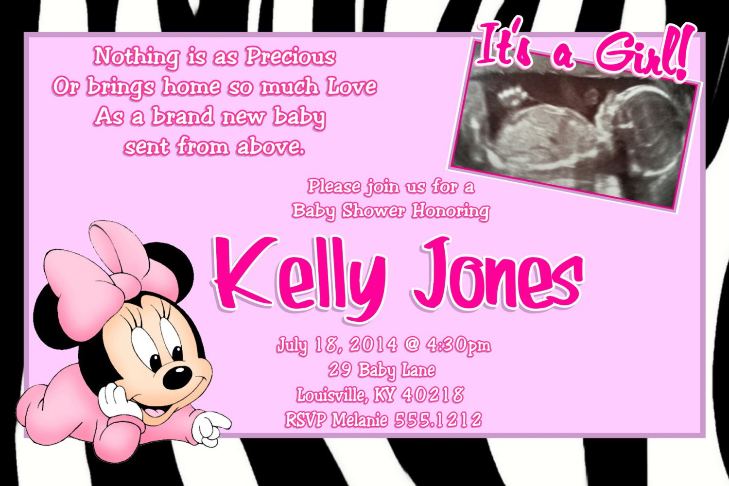 Baby Shower Invitations Print At Home