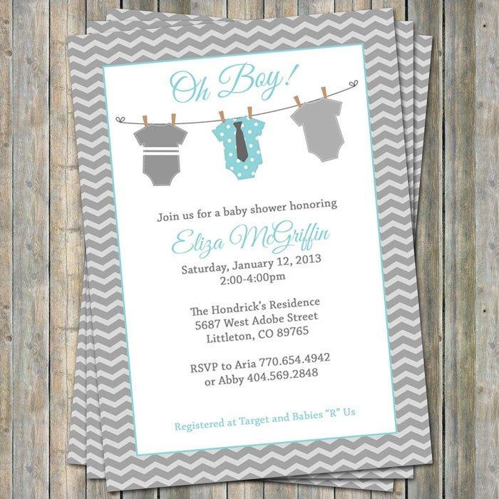 Baby Onesie Invitation Templates