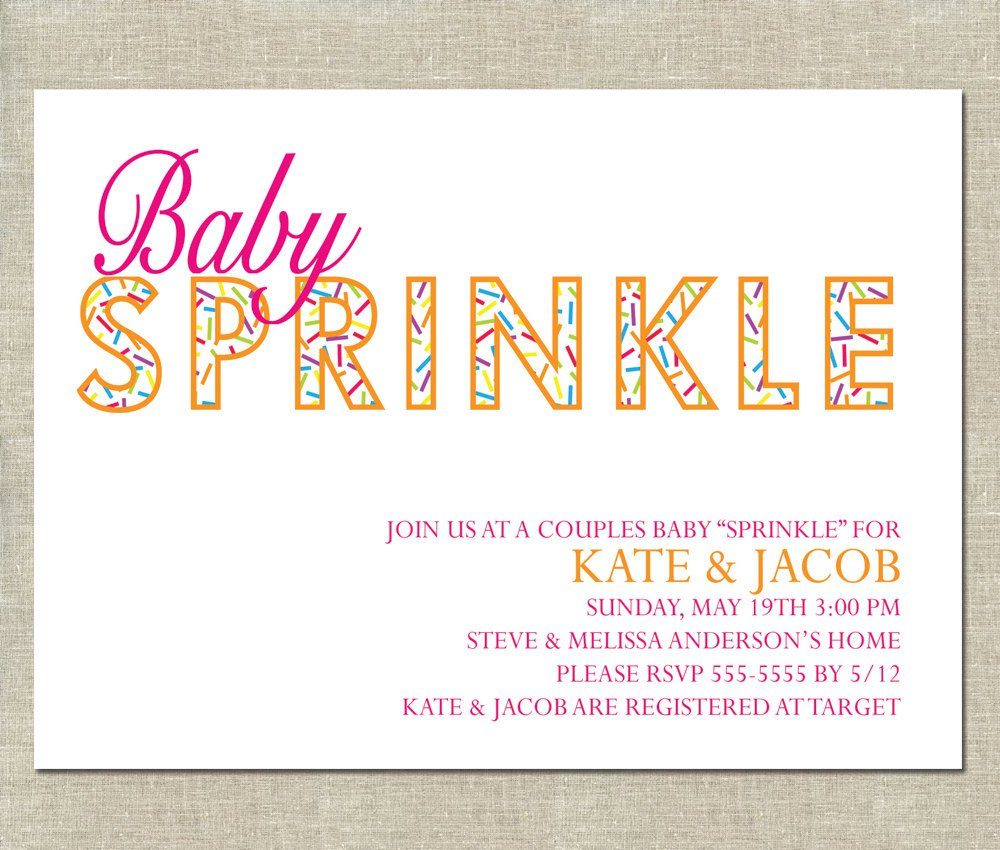 Baby Sprinkle Girl Invitation Wording