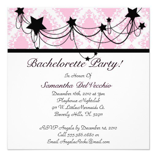 Bachelorette Party Invitation Layout