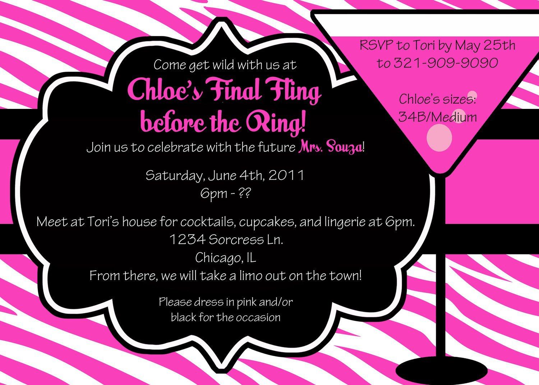 Bachelorette Party Invitation Printable Templates