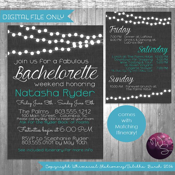 Bachelorette Party Invitations Pdf