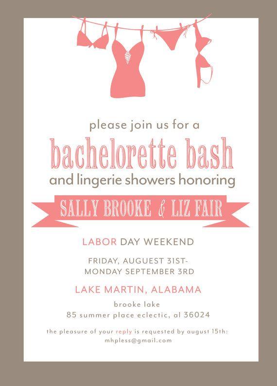 Bachelorette Weekend Invitations Wording