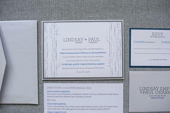Back Pocket Wedding Invitations