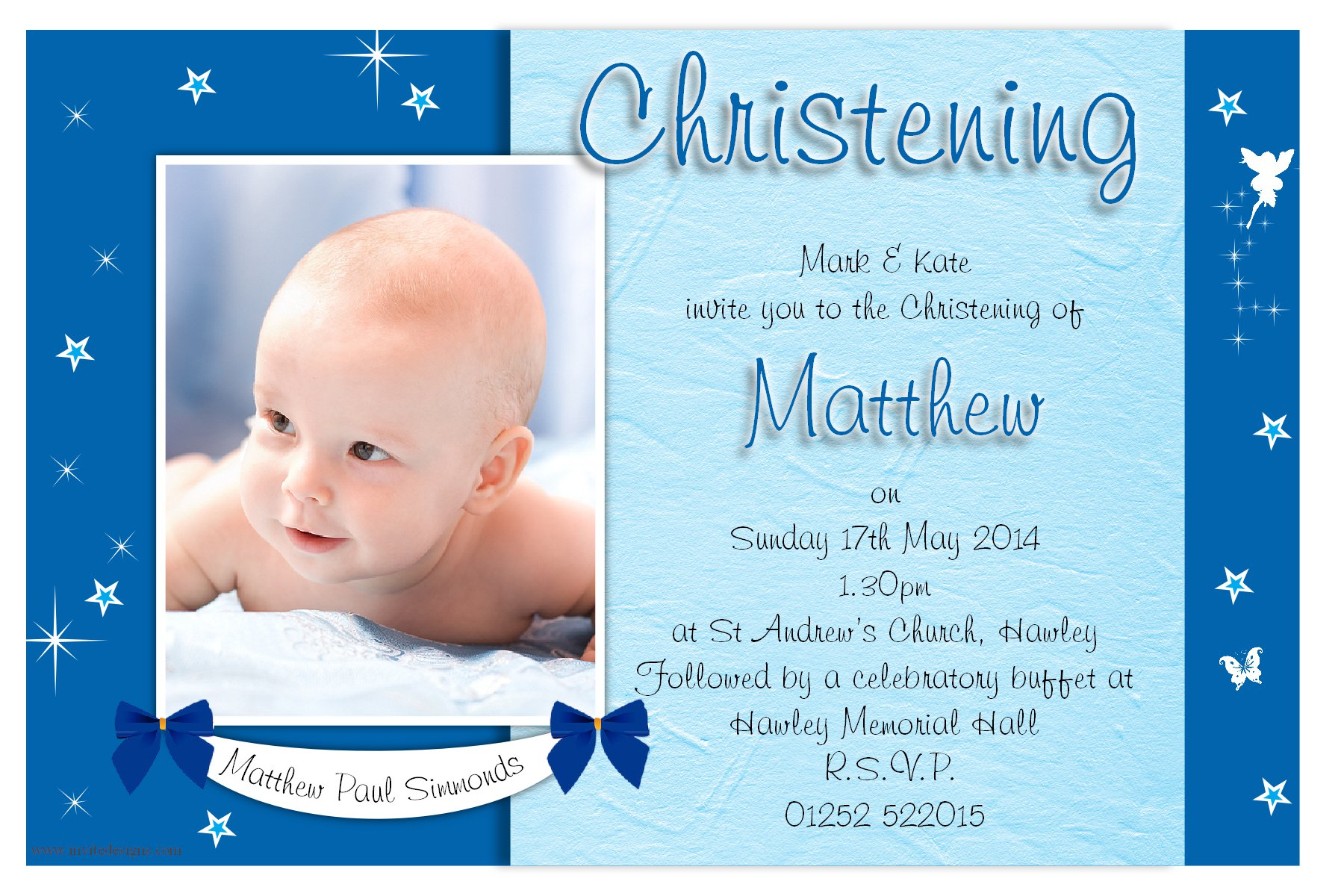 Baptism Box Invitations