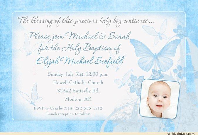Baptism Christening Invitation Cards