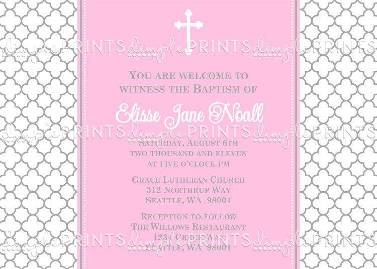 Baptism Invitation Sample