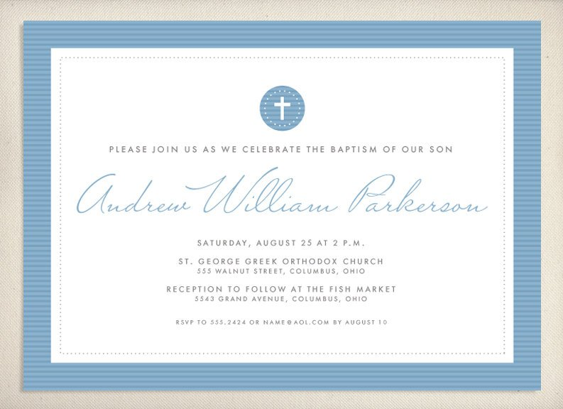 Baptism Invitation Wording With Godparents