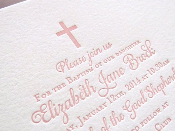 Baptism Invitations With Godparents Names