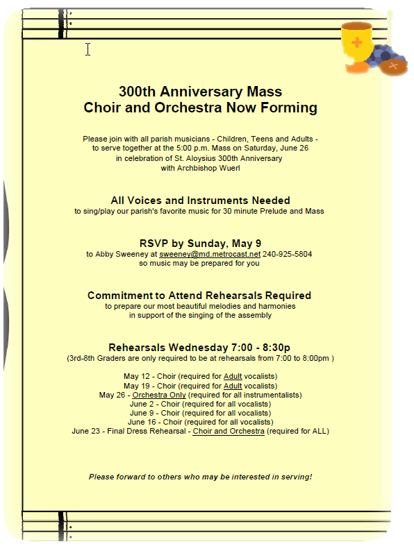 Baptist Church Anniversary Invitation