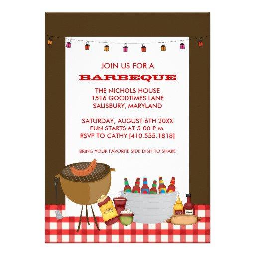 Barbecue Invitations Templates