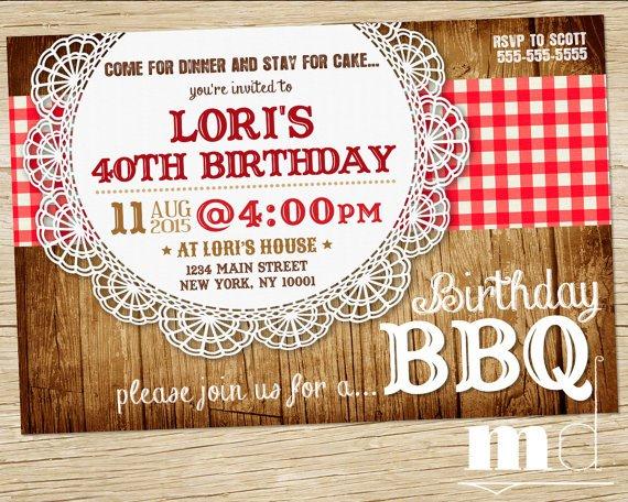 Barbecue Potluck Invitation Wording