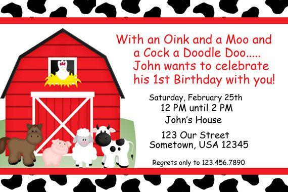 Barnyard Birthday Invitations – Farm Party Invitations