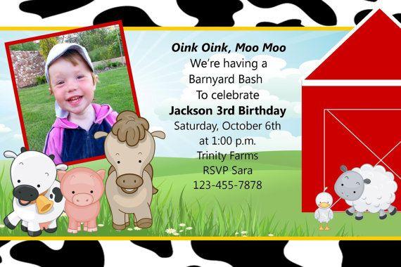 Barnyard Invitation For Girls