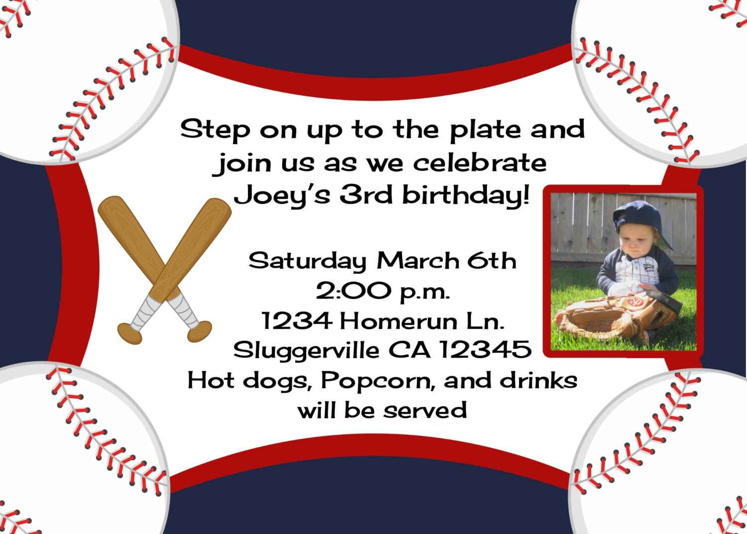 Baseball Party Invitation Wording Ideas