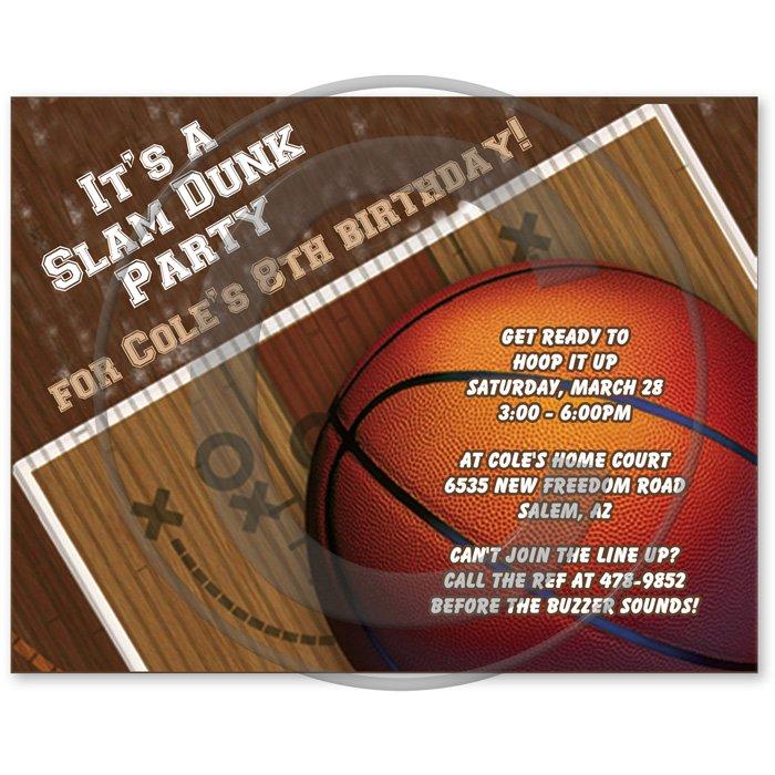 Basketball Baby Shower Invitations