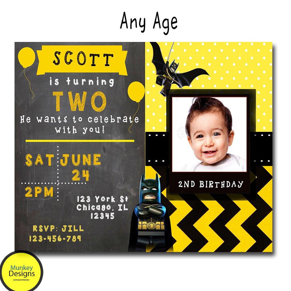 Batman Birthday Invitation Sample