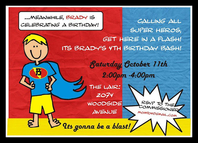 Batman Birthday Invitations Idea