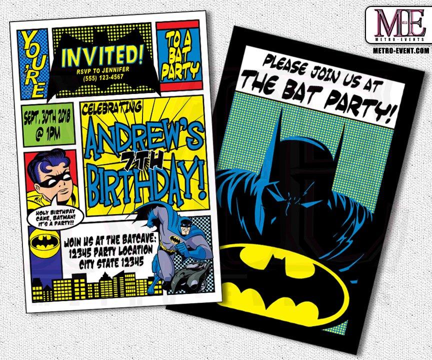 Batman Birthday Party Invitation Ideas