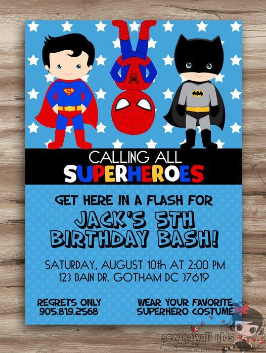 Batman Invitation Ideas