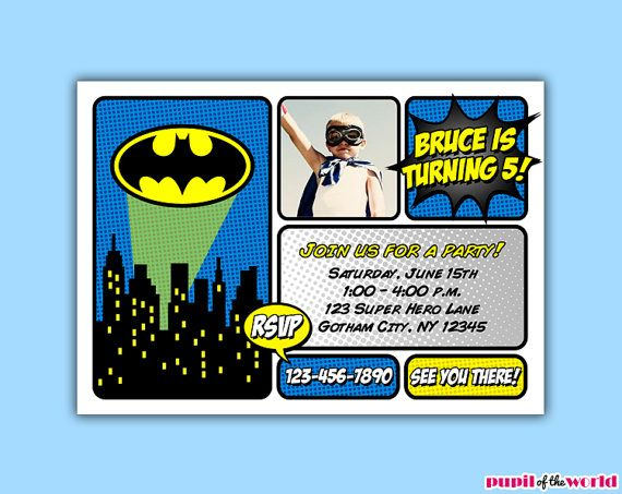 Batman Party Invitation Ideas
