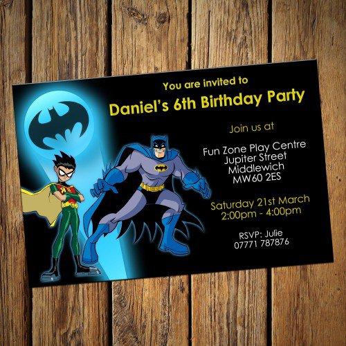 Batman Party Invitations Uk