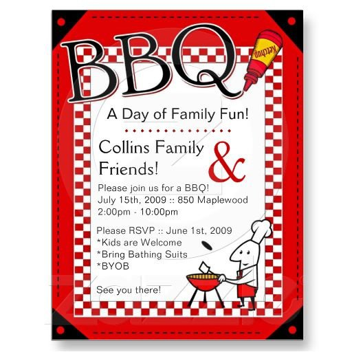 Bbq Party Invitation Wording Ideas