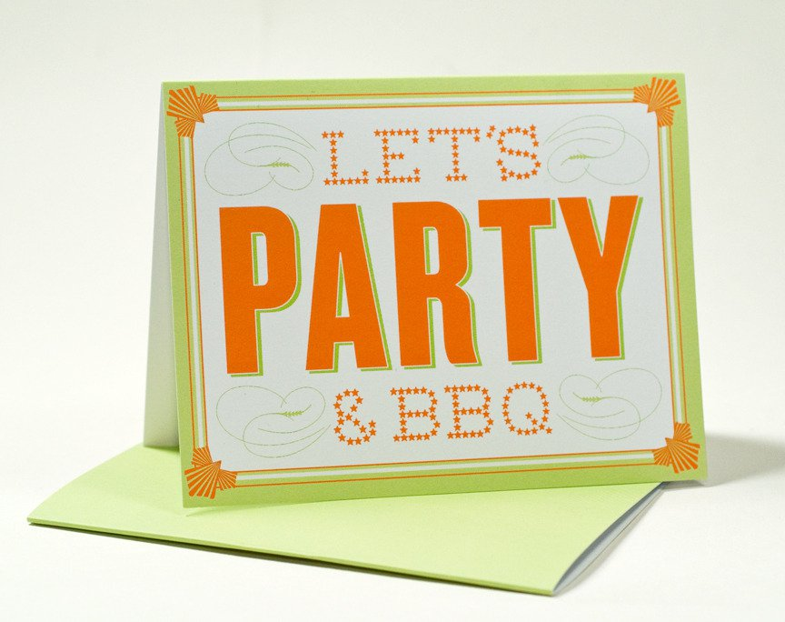 Bbq Party Invitations Rich