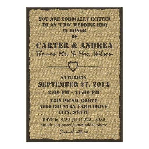 Bbq Reception Invitations