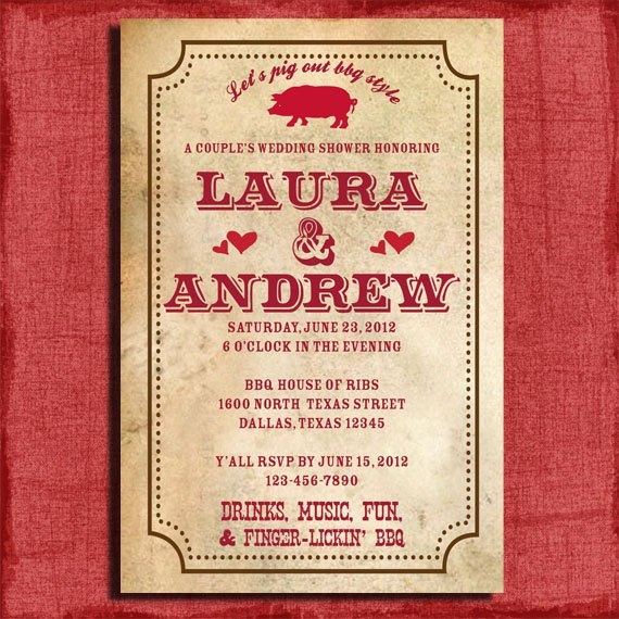 Bbq Wedding Invitations Wording