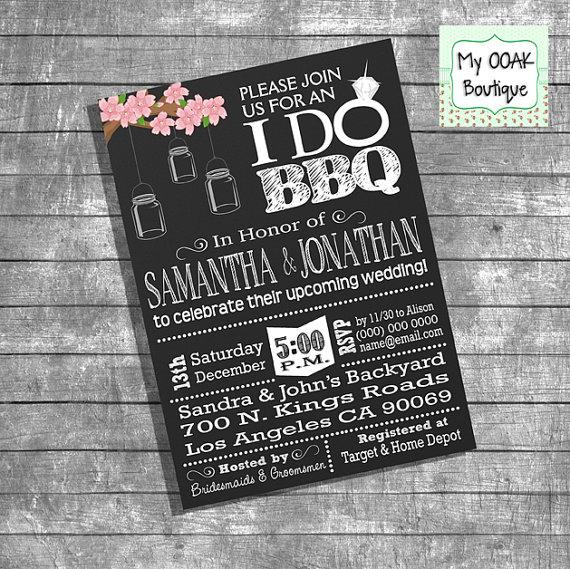 Bbq Wedding Shower Invitations