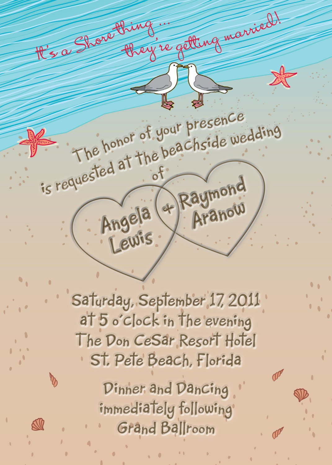 Beach Destination Wedding Invitation Wording