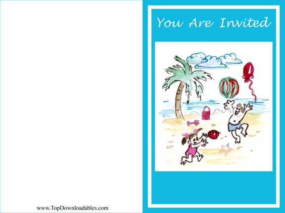 Beach Party Invitation Templates