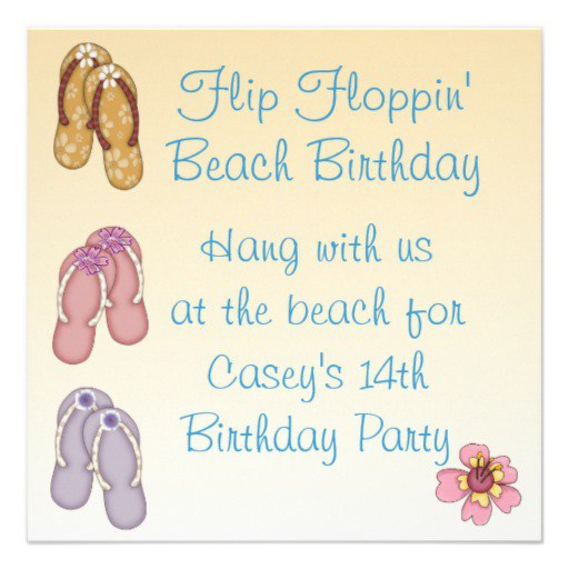Beach Party Invitation Wording Ideas