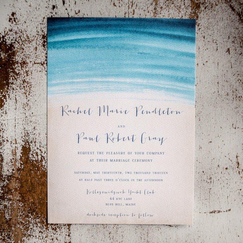 Beach Style Wedding Invitations