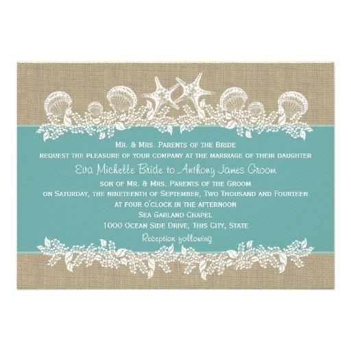 Beach Type Wedding Invitations