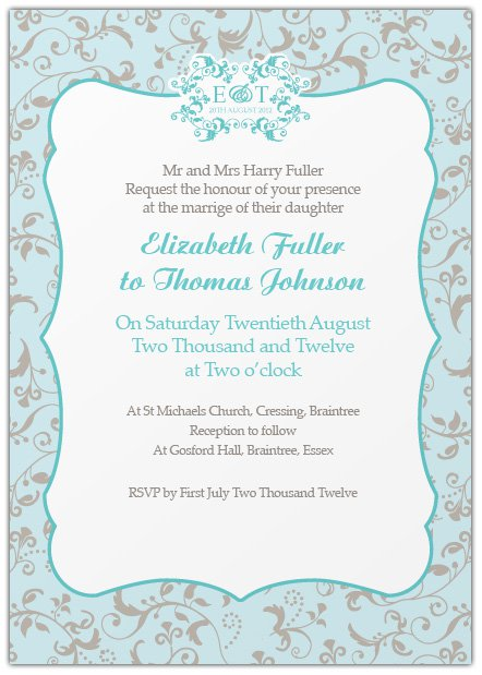 SemiCasual Wedding Invitation Wording Yaseen for