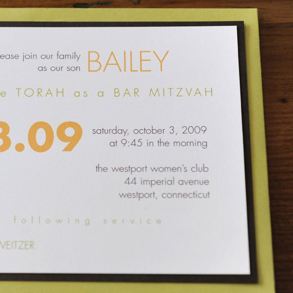 Beautiful Bat Mitzvah Invitations