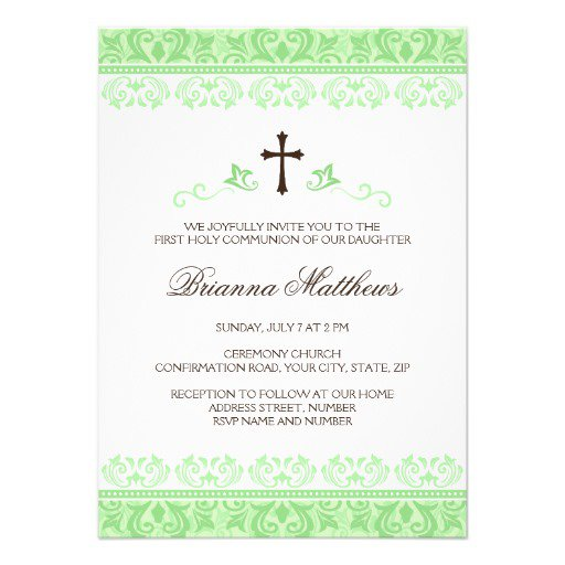 Beautiful Communion Invitations