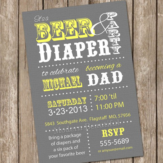 Beer And Baby Shower Invitations
