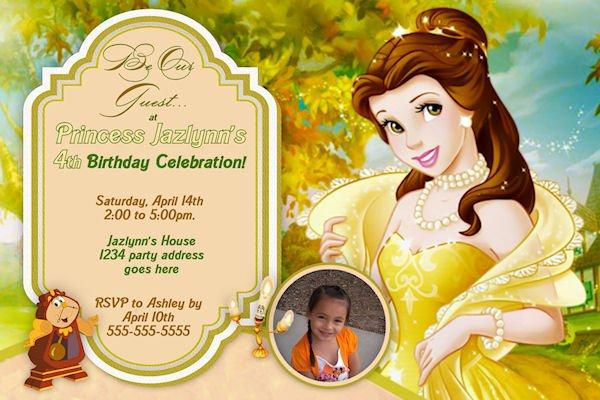 Belle Birthday Invitations Ideas