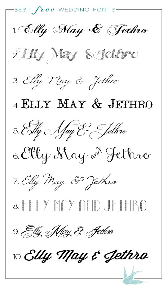 Best Calligraphy Fonts For Wedding Invitations
