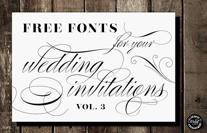 Best Wedding Invitation Envelope Fonts