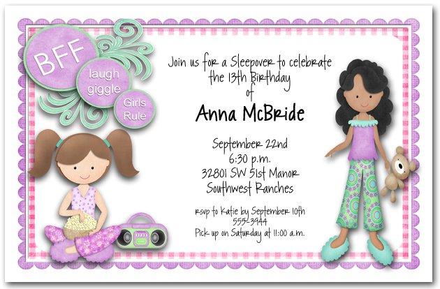 Bff Birthday Invitations