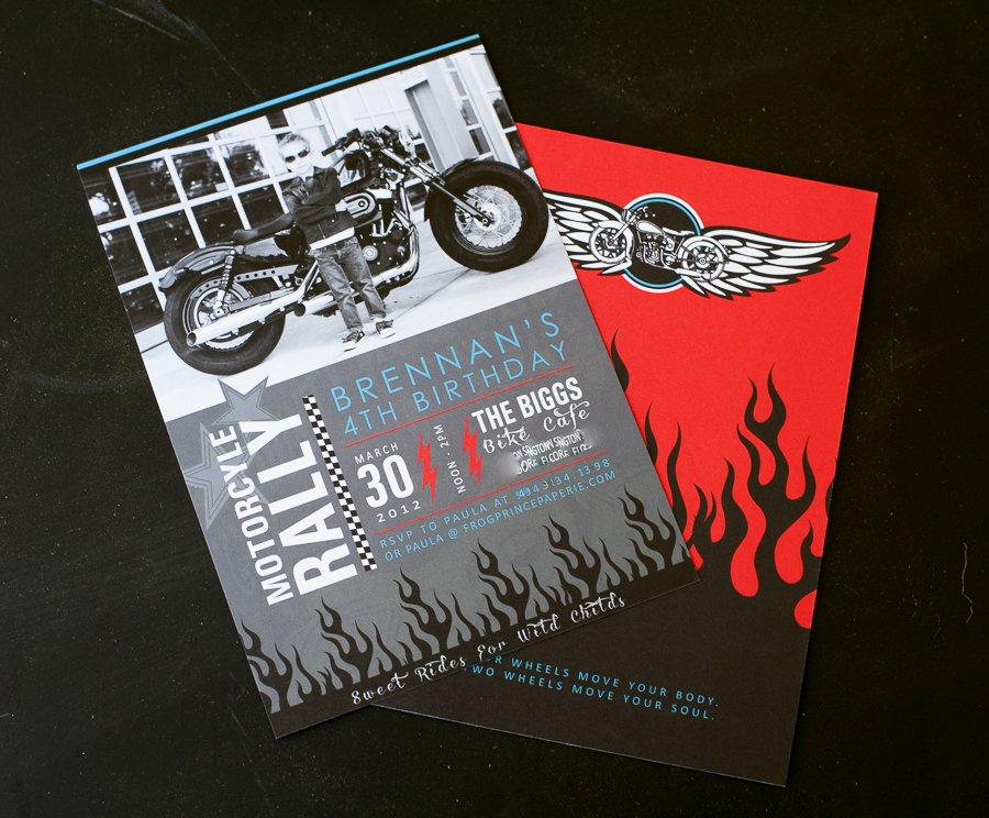 Bike Birthday Invitations