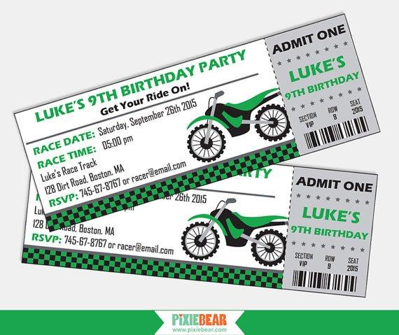 Bike Birthday Invitations Free