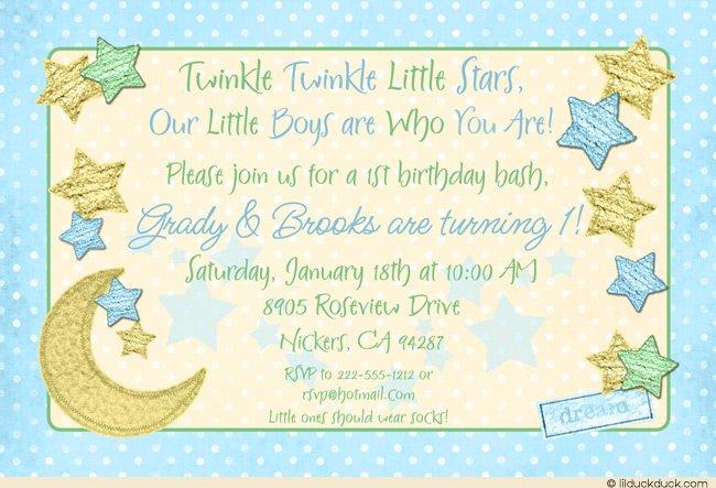 Birthday Invitation Inserts