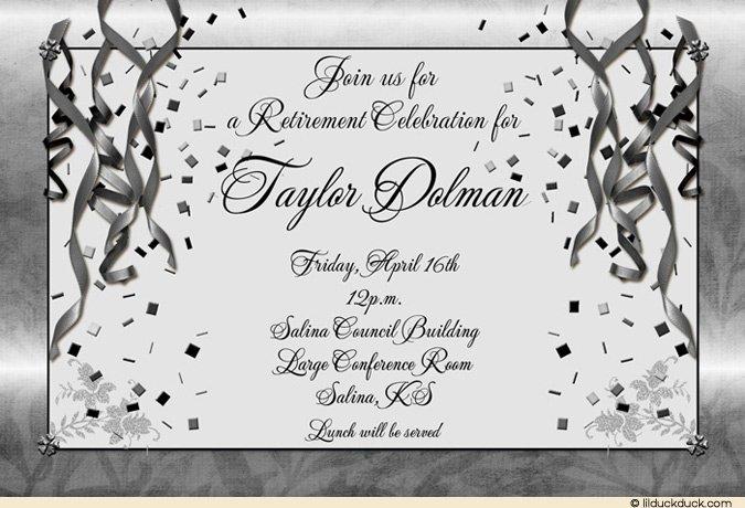 Birthday Invitation Inserts Templates