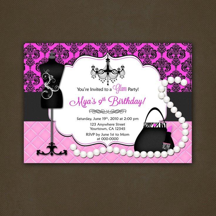 Birthday Invitation On A Purse