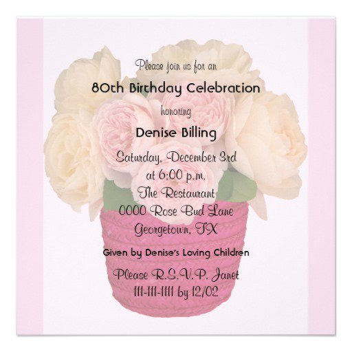 Birthday Invitation Templates For Flower Garden